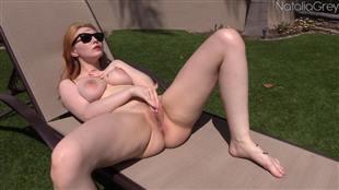 nataliagrey sunbathing premium cum video