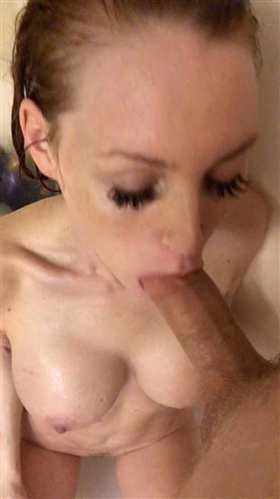 JennyBlighe Shower Blowjob Premium Onlyfans Video