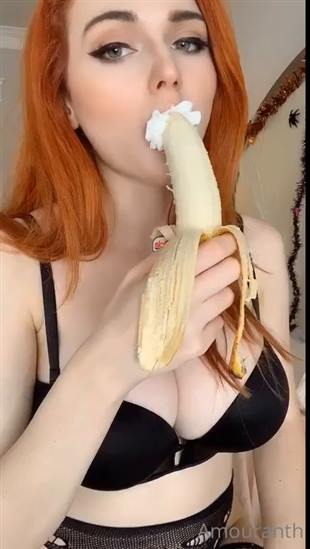 Amouranth Banana Blowjob Video Onlyfans
