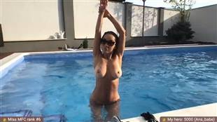 MightyAn Topless Pool Show mfc